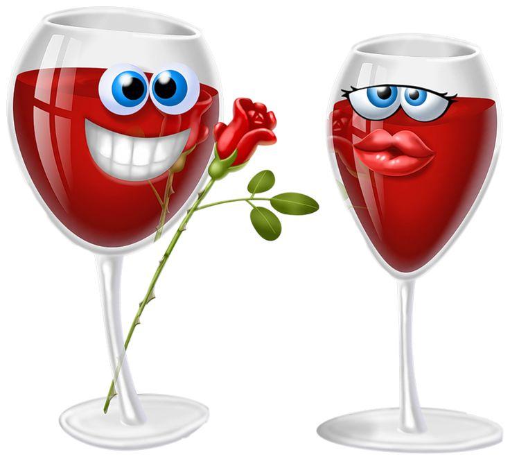 Для, картинка с бокалом вина прикольная