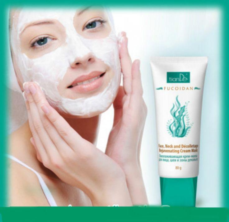 """Κρέμα μάσκα για το πρόσωπο,λαιμό & ντεκολτέ """" Fucoidan"""" Περιποιηθείτε το δέρμα σας με την κρεμώδη μάσκα Fucoidan , πλούσια σε υφή με θρεπτικά και αναζωογονητικά συστατικά … Περιποιηθείτε το με τη νέα Fucoidan κρέμα μάσκα  για νεανικό πρόσωπο, σφριγηλό λαιμό και αναζωογονημένο ντεκολτέ! Θα σας ενθουσιάσει με το όμορφο αποτέλεσμα , την νεανική εμφάνιση, την φρεσκάδα και λάμψη που με υπερηφάνεια θα προβάλετε!"""