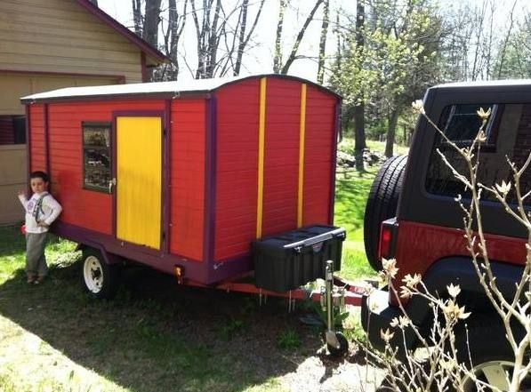 diy gypsy vardo micro cabin camping trailer for sale 001   DIY Vardo Camper for Sale: Affordable Mobile Micro Cabin