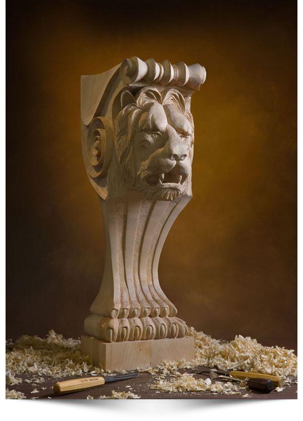 Wood carver alexander grabovetskiy project lion head