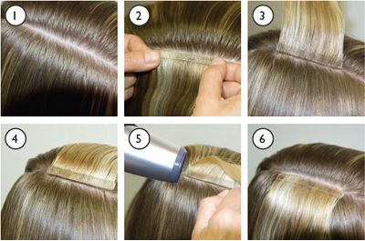babe extensions | Balmain extensions : Tape Extensions info.  One of the most safest extensions techniques available.    #AllAboutHealthyHair