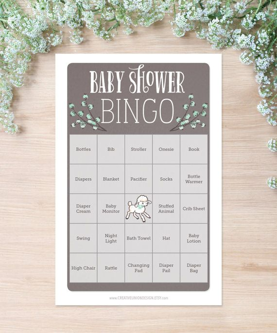 Everyone loves playing Baby Shower Bingo! Gender neutral, so this game is perfect for any shower!    WHAT YOU GET:  1 high resolution pdf