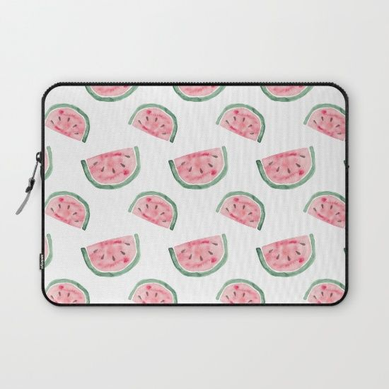 """LAPTOP SLEEVES/ LAPTOP SLEEVE One of my new watermelon pattern """"Vitamin Water"""". 20% Off + Free Shipping on Laptop Sleeves Today!"""