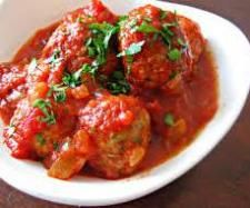 Marvellous meatballs with tomato, eggplant and mushroom sauce... great Varoma meal
