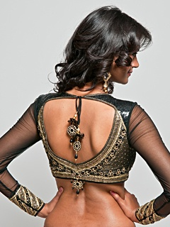 long sleeve sari blouse - this is what I want!