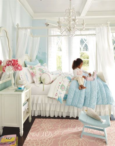 49 best navy blue pink bedroom ideas images on pinterest for Pottery barn kids rooms