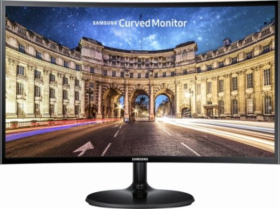 Samsung 390 Series 24 Led Curved Fhd Freesync Monitor High Glossy Black C24f390 Monitor Samsung Lcd Monitor