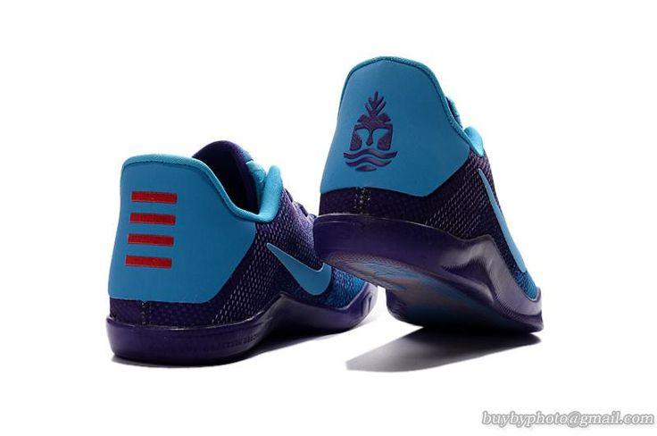 nike kobe xi elite low nike zoom air basketball shoes purple cyan blue