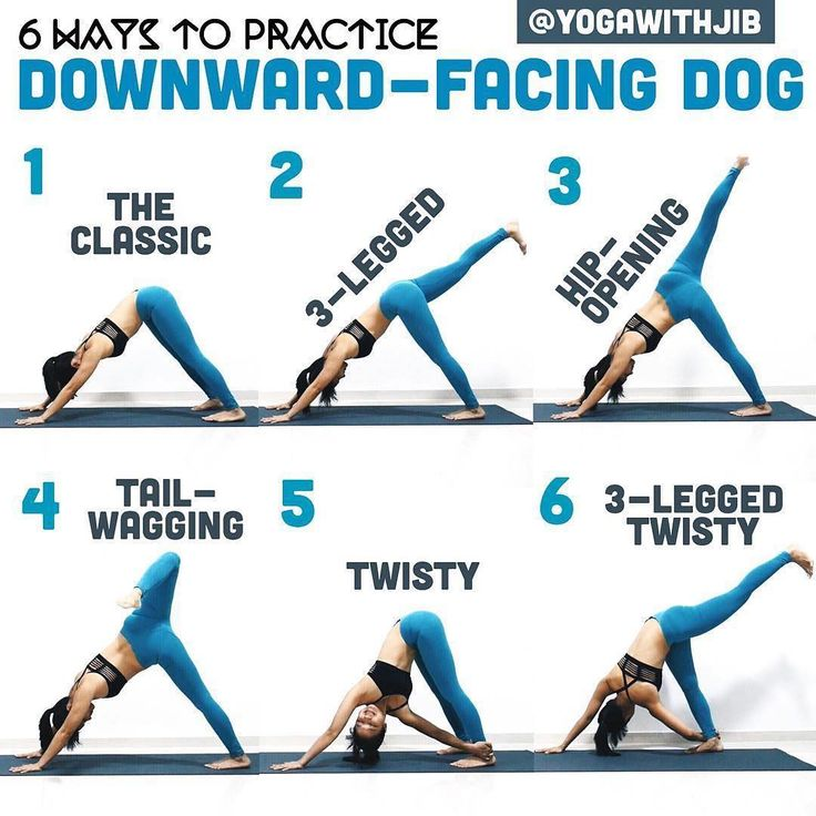 @yogawithjib on Down Dog Variations  ・・・ #howtoyogawithjib  What kind of (downward-facing) dog is your favorite? Mine is twisty! While practicing, remember these: Press down through fingers to relieve weight off wrists Engage your core to straighten spine instead of letting it arch and collapse Keep your neck relax And most importantly... Have fun! #yoga #yogatutorial