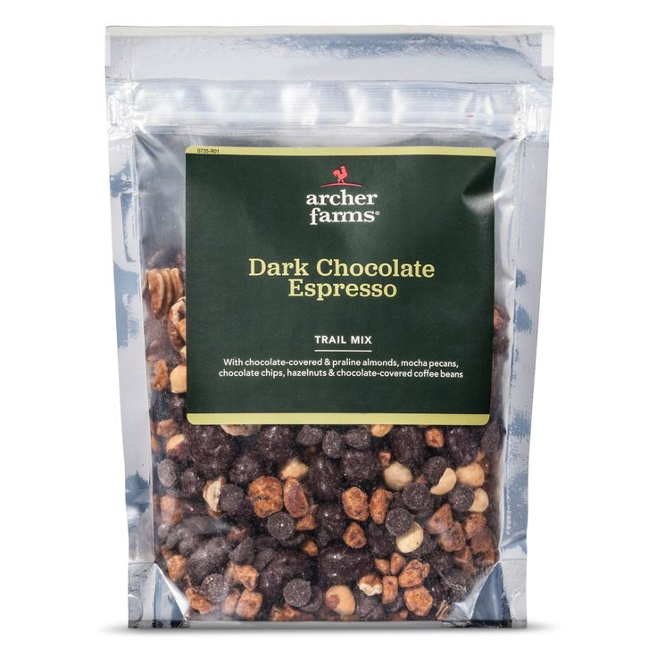 <p>Archer Farms Dark Chocolate Espresso Trail Mix is big energy anytime, featuring dark chocolate-coated almonds, dark chocolate pecans, sea salt pecans, dry roasted filberts, praline almond pieces and semisweet chocolate chips. Don't forget the kicker — dark chocolate coffee beans. Pick some up for a pick-me-up. <br /></p><p>Whoever said you can't guarantee happiness clearly has never ...