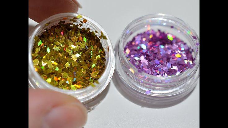 Błyszczące kwiatki na paznokciach! Floral design on natural nails!