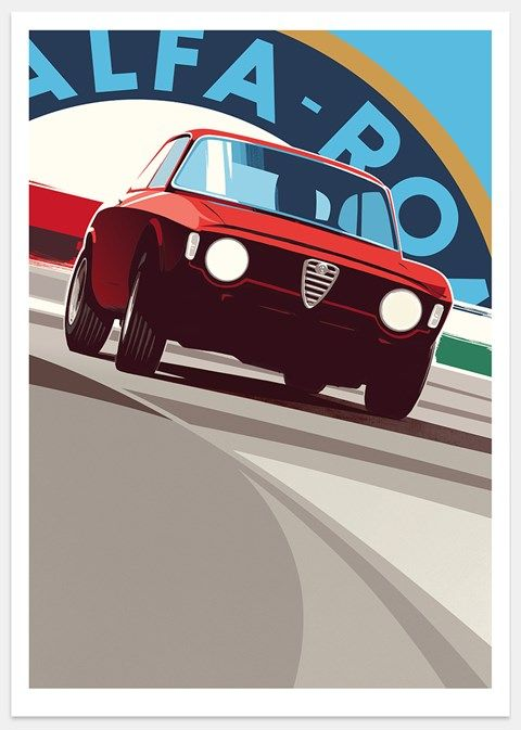 Alfa Romeo GTA print by Guy Allen - www.guyallen.co.uk