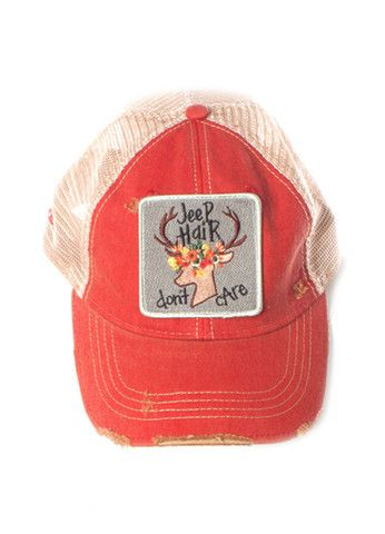 Judith March Jeep Hair Don't Care Hat (Red) – DejaVu
