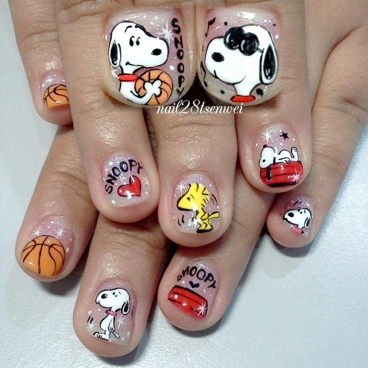snoopy nail art - Google-haku