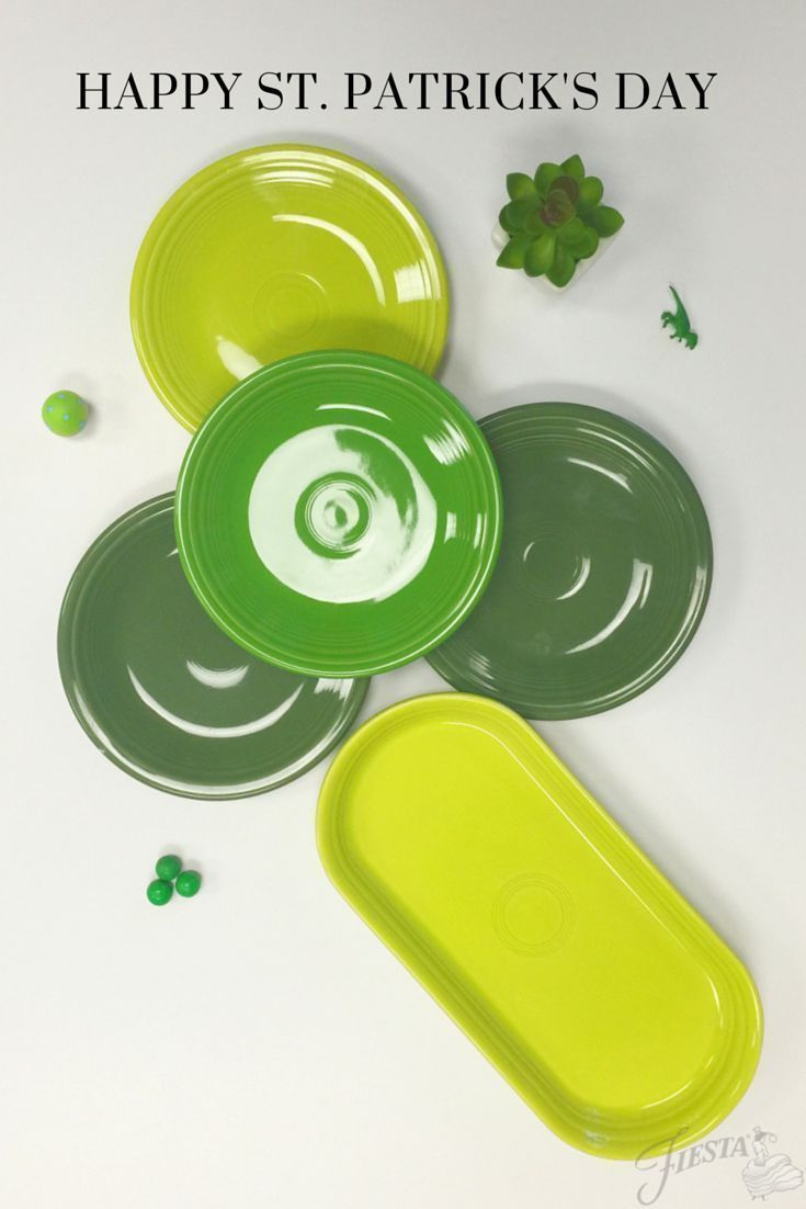 Happy St. Patricks Day from your Fiesta family. Wishing you brilliant hues of good luck, whether your Shamrock has three - or four - leaf clovers.