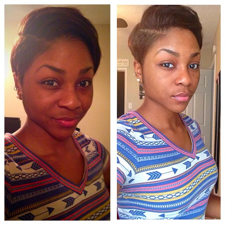 Pixie Haircut for Black Women African American Hair 2014 Black Hair Short HairCut. Curled Hair Short Hairstyles Tribal shirt