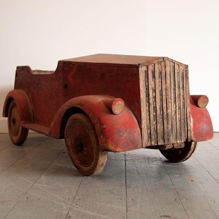 wooden pedal car