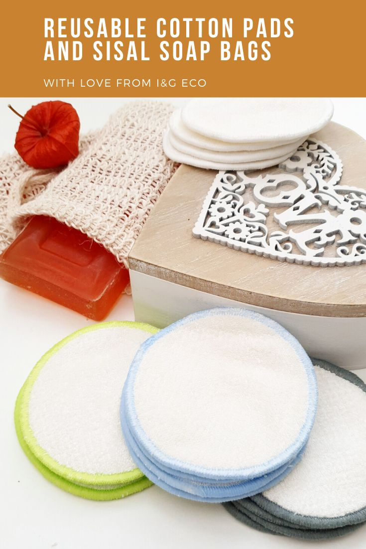 Reusable Make Up Remover Pads and Sisal Soap Bags/Zero