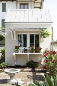 Stucco and metal roof nice combo ideas for a barn pinterest nice metal roof and metals - English style window boxes living facades ...