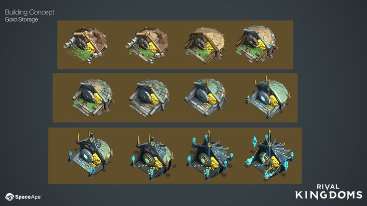 ArtStation - Rival Kingdoms : Buildings., Josh Atack