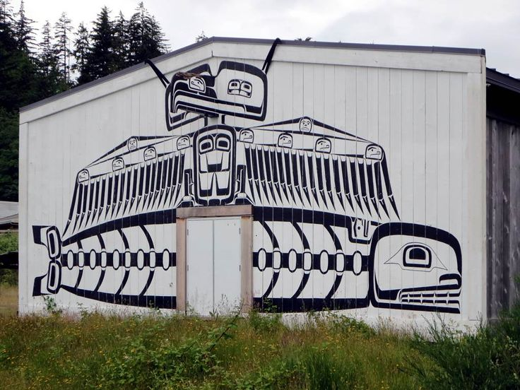 The Big House Gallery at the U'mista Cultural Centre in Alert Bay, British Columbia, Canada.