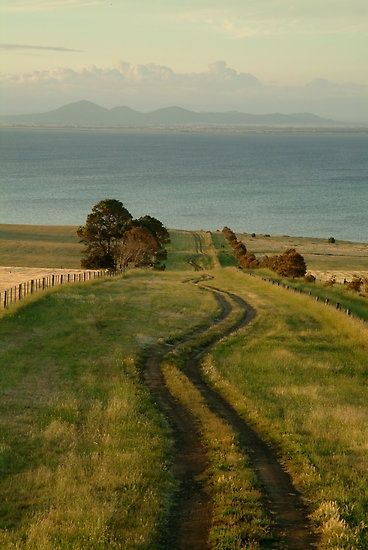 the winding country road to the sea......