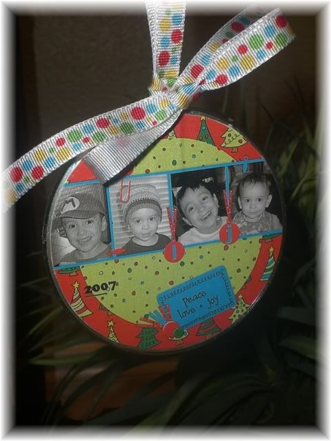 Altered CD Ornaments