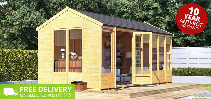 BillyOh Petra Tongue and Groove Reverse Apex Summerhouse - Wooden Sheds - Garden Buildings Direct