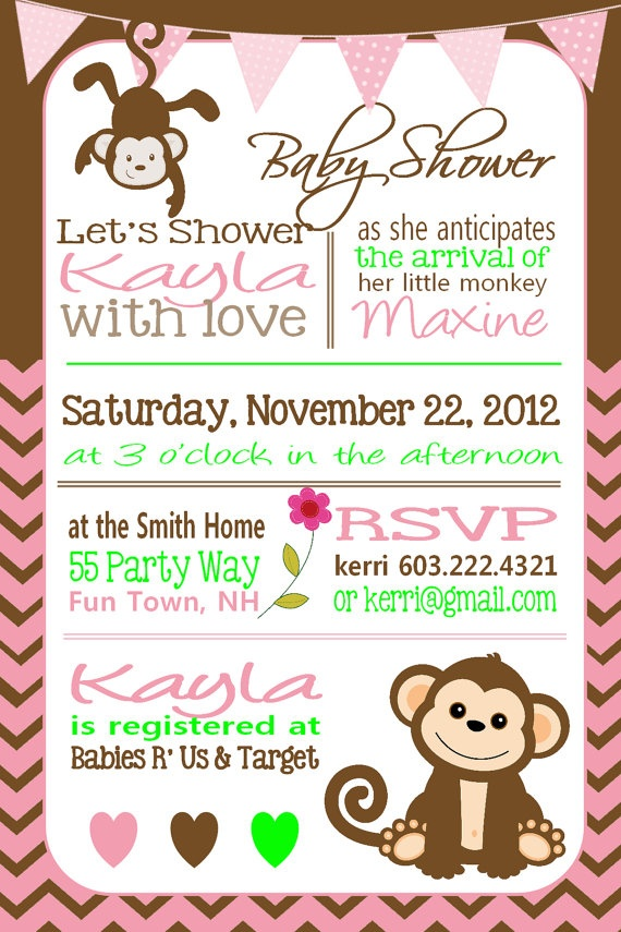 best joanne's baby shower ideas images on   monkey, Baby shower