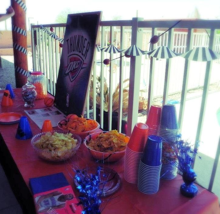 Oklahoma City Thunder Birthday Party