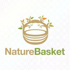 Exclusive Customizable Logo For Sale: Nature Basket | StockLogos.com