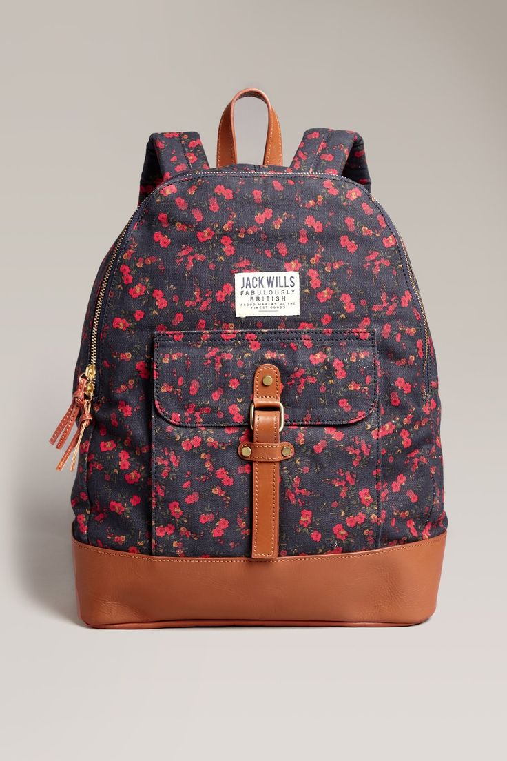 Floral Backpack Earnshaw Backpack -> http://wills.ly/YICdIK  #bag #backpack #floral #floralbackpack #floralbag #flowers