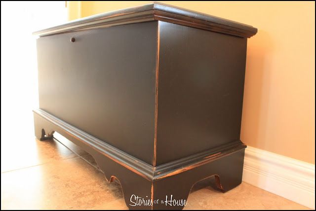 Hope Chest Redo.  This blog has a lot of nicely done furniture redo's.