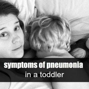 symptoms of pneumonia in a toddler