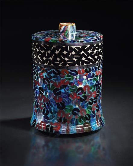 Yoichi Ohira (Japanese, b. 1946), Unique Hand-blown Murrine Glass Vase, 2006.