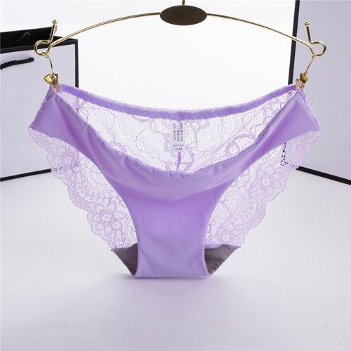 Sexy Women's Lace Ultra-thin Seamless Panties Transparent Briefs Underwear S-XL 12 COLORS Intimates For Ladies