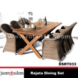 Rajata Dining Set Meja Makan Rotan Sintetis DSRT033