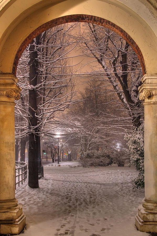 Snow Arch, Turin, Italy photo via rachel