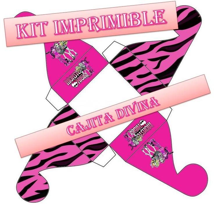 Kit Imprimible Monster High - Invitacion De Cumpleaños Y M - $ 30,00 en MercadoLibre