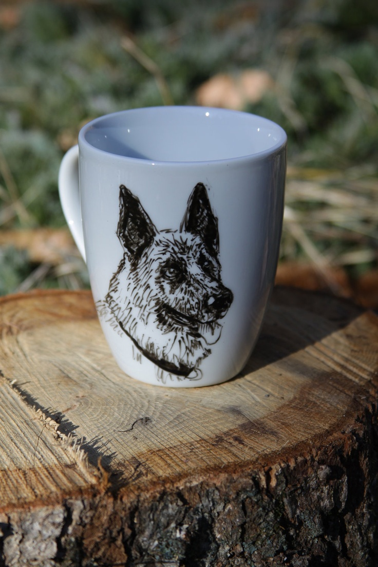 CUSTOM Hand Painted Coffee Mug Pet Dog Animal. $15.00, via Etsy.
