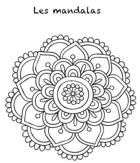 Resultado de imagem para como dibujar mandalas faciles