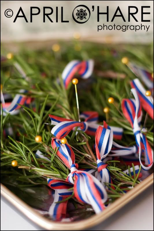 Rosemary pins  http://www.ehow.com/way_5234354_gifts-guests-serbian-weddings.html