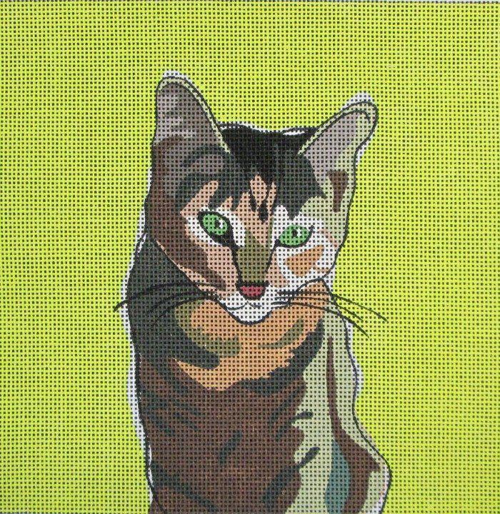 Tabby Cat Needlepoint