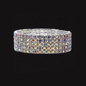 Aurora Rhinestone Stretch Bracelet - New Age & Spiritual Gifts at Pyramid Collection