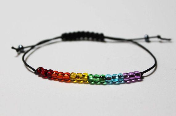 LGBT Rainbow Beaded Simple Gay Lesbian Pride Bracelet