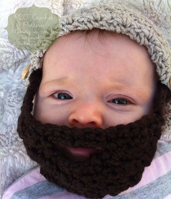 PATTERN The Sam Beard & Beanie Four Sizes by NaturallyNoraCrochet
