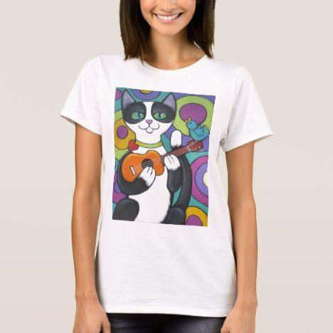 Ukulele Serenade T-Shirt #cat #cats #kitten #catproducts