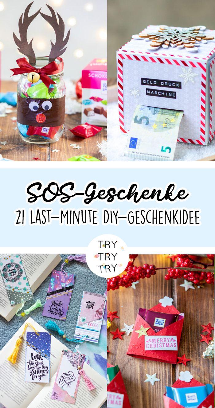 SOS-Geschenke: 21 Last-Minute DIY-Geschenkideen für