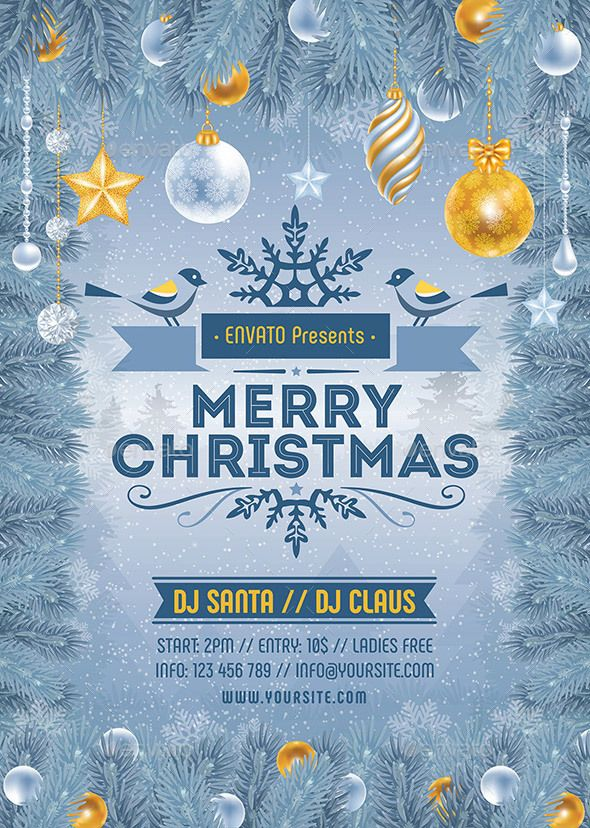 Merry Christmas Flyer Template PSD