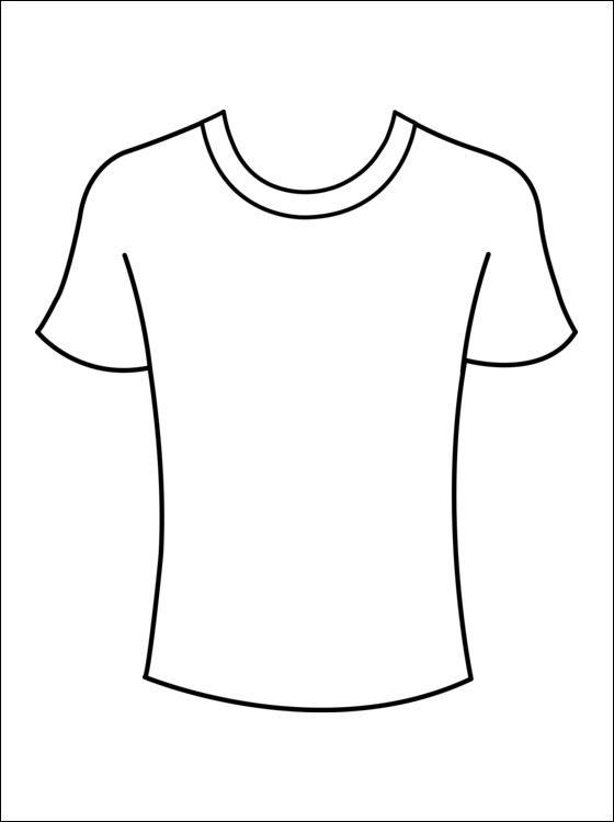 Kleurplaat T-shirts | Gratis kleurplaten